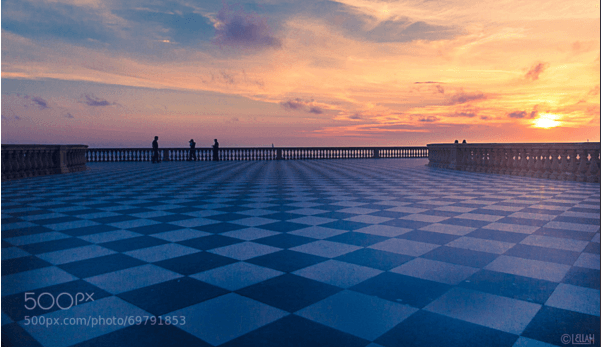 Chessboard Meets The Mediterranean Seaside