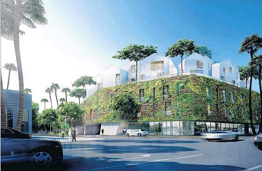 Extra Green on Wilshire Luxury Commercial Building